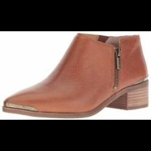 Lucky Brand Koben Tan Leather Ankle Booties